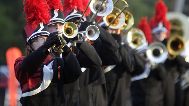 The Pride of Southside band performs during pre-game events against Lincoln in a file photo from 2019.