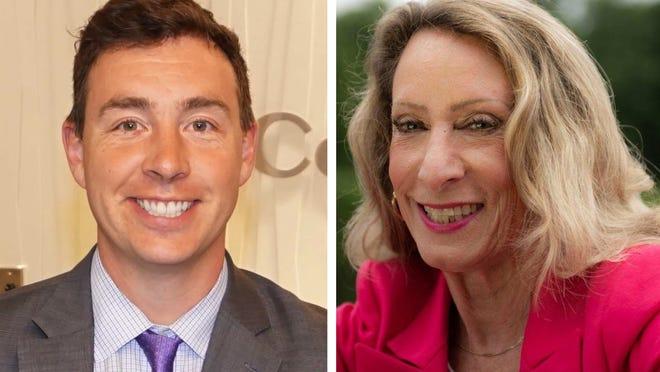 State Sen. Ryan Fattman, R-Sutton, left, is being challenged by Christine Crean, a Democrat from Milford.