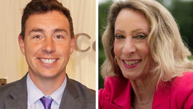 State Sen. Ryan Fattman, R-Sutton, and challenger Christine Crean, a Democrat from Milford.