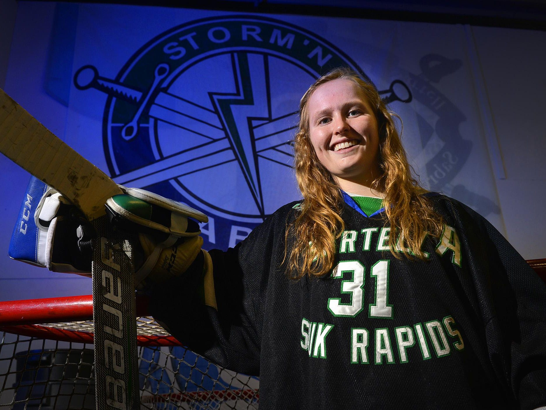 Sartell-Sauk Rapids Storm'N Sabres goalie Clare Minnerath is headed to Providence for the 2016-17 season.