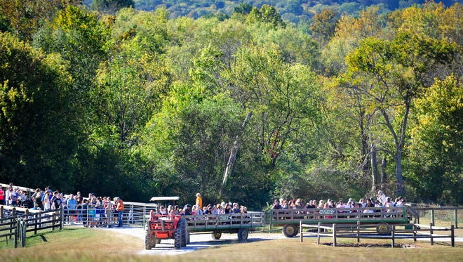 Members of the Wounded Warriors were invited to bring their families to Gentry's Farm, Saturday, October 8, 2016 for a day of festivities, in Franklin, Tenn.