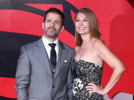 'Justice League' director Zack Snyder and his wife,