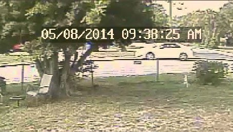 This still image from surveillance cameras show the suspect vehicle involved in the home invasion sexual battery.