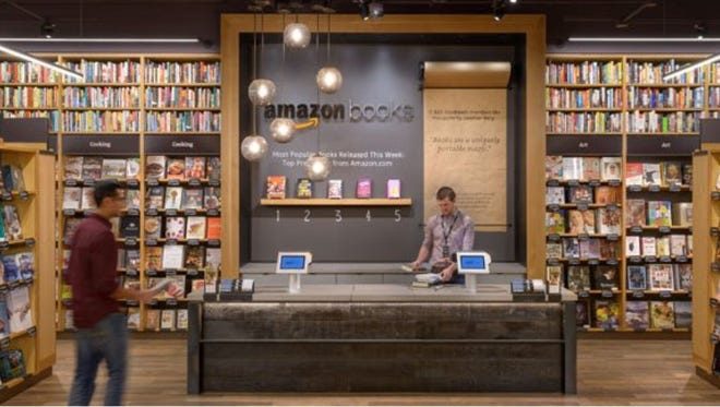 Amazon Books, a brick and mortar bookstore opened by Amazon.com in Seattle's upscale University Village shopping mal on Nov. 3, 2015.