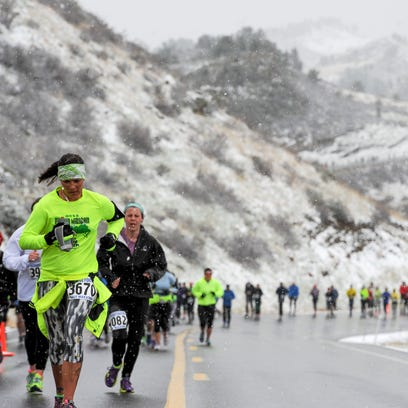 Racers compete in the 41st Horsetooth Half Marathon