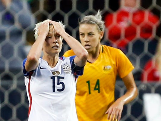 Soccer: Tournament of Nations Women's Soccer-Australia at USA