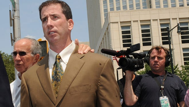 Former NBA referee Tim Donaghy received a prison sentence of 15 months and three years probation after pleading guilty in August 2007 to federal charges that he took payoffs from a professional gambler for inside tips on games.