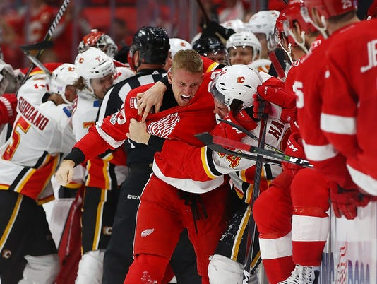 Calgary Flames v Detroit Red Wings