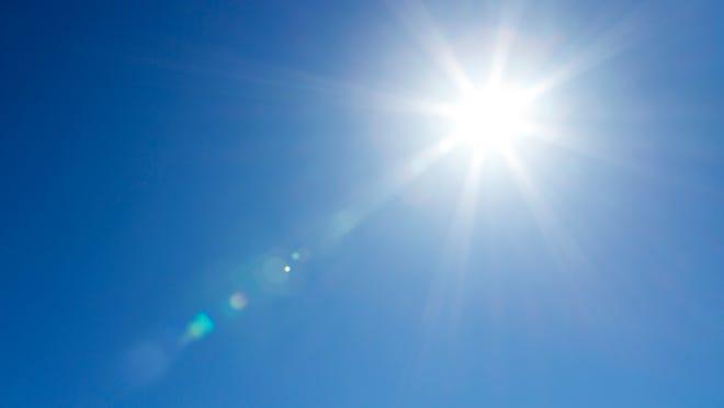 Sunny skies.