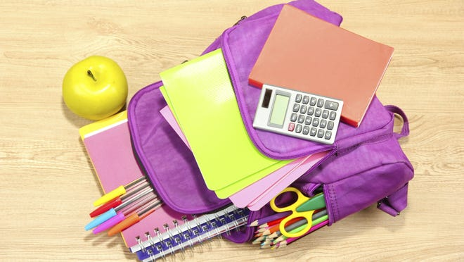 The sales tax holiday for school supplies is Aug. 1-3.