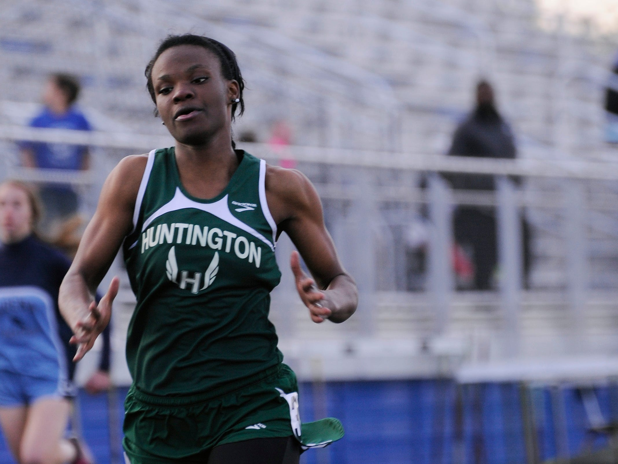 Huntington's Carolane Cox competes in the Cavalier Club Invitational on April 23 at Herrnstein Field.