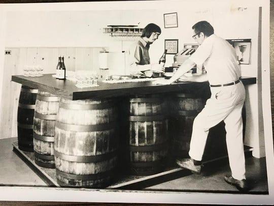 Boskydel Vineyard's tasting room on opening day in