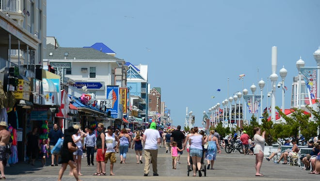 The Ocean City Boardwalk saw a nice crowd before the start of Memorial Day weekend in Ocean City, Md. on Friday, May 25, 2018.