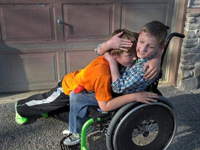 Several years ago Conner Long and his brother Cayden, who has cerebral palsy, competed in a triathlon with Conner pulling and pushing his brother  through the course. The event earned them national recognition and they were named SportsKids of the Year by Sports Illustrated in 2012. Now, the White House family is behind a new nonprofit that is supporting pairs to compete in athletic events together, including this weekend's Country Music Marathon and Half Marathon.
