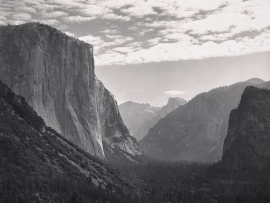 Yosemite Valley, High Clouds, from Tunnel Esplanade,Yosemite