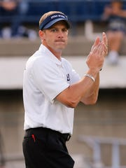 Utah State Aggies head coach Matt Wells.