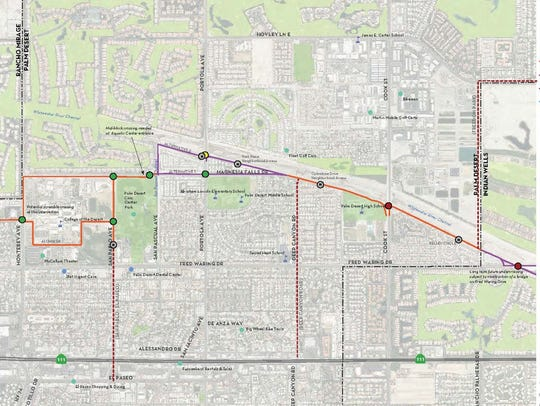 A map shows the proposed route of CV Link through Palm