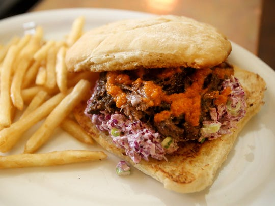 The Beef Cheek sandwich is on the menu at The Three Legged Dog Public House in Independence.