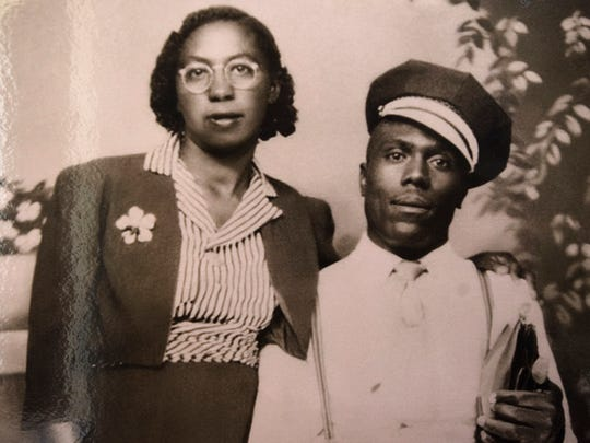 Elmore Bolling and his wife, Bertha Mae Bowden Bolling, in an old photograph. Elmore Bolling was lynched on Dec. 4, 1947.