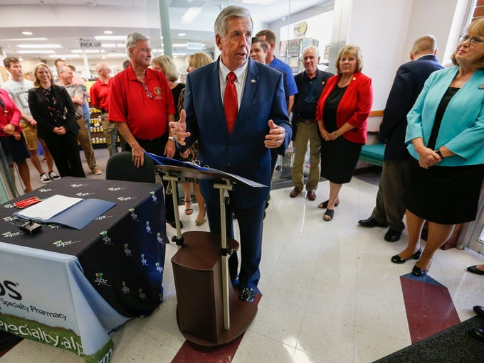 Governor Mike Parson was at Alps Pharmacy on Friday,