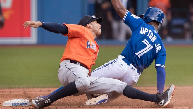 Melvin Upton Jr. hasn't done much since he was traded to Toronto, but he could provide a boost in steals down the stretch.