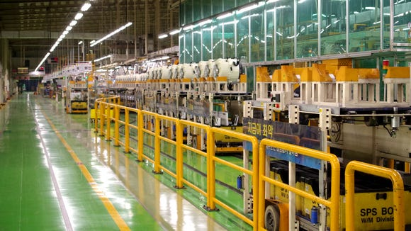 LG's washing machine assembly line in Changwon, South Korea