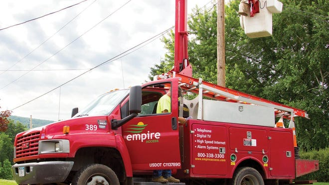 An Empire Access crew works to deliver broadband service.