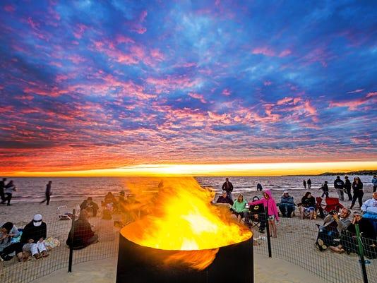Ludington beach bonfire ToddandBradReed.jpg