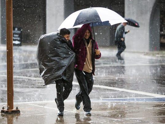 rain downtown