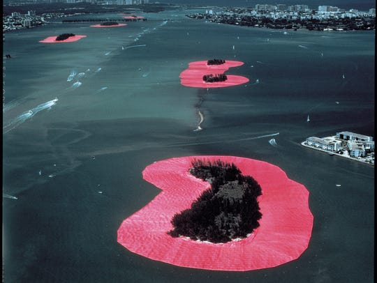 In 1983, Christo and Jeanne-Claude surrounded 11 Biscayne