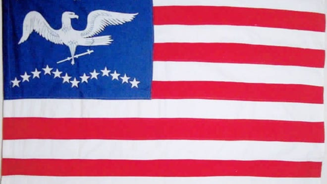 One of the flags in the Clausen Flag Collection includes this 26-star American flag, courtesy of the Hanover Area Historical Society.
