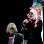 Blondie is Chris Stein (left to right), Debbie Harry and Clem Burke.