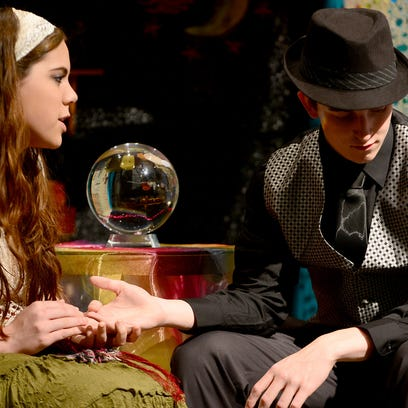 Sophia Sage and Andrew Clarke portray Arabelle and