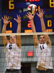 Dallastown's Wyatt Myers (5) and Mason Figdore (11)