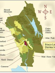Eleven growers and 19 wine makers make up Stag's Leap. The area is the American standard for fine Cabernet Sauvignon.