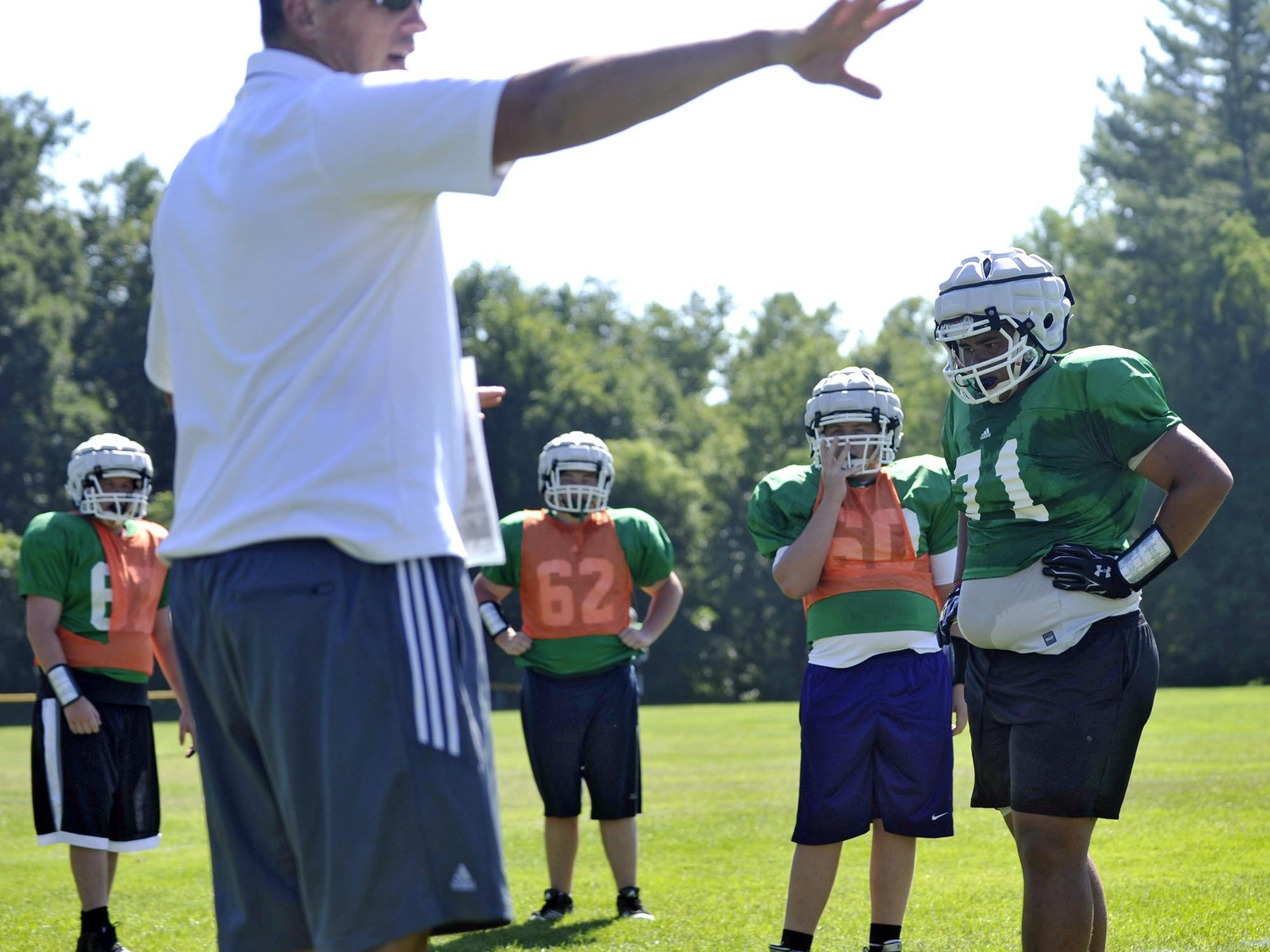 Christ School football coach Mark Moroz has a 35-10 record in four seasons with the Greenies.