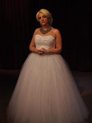 "Caitlin McNichol stars as Eva Duarte Peron in SRO Productions III's ""Evita."""