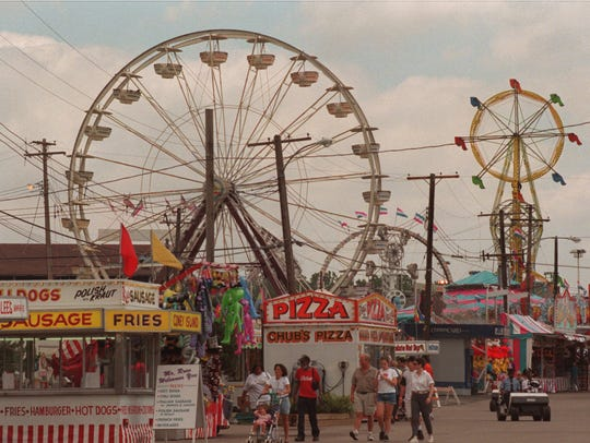 Midway on the Michigan State Fairgrounds in 1998.