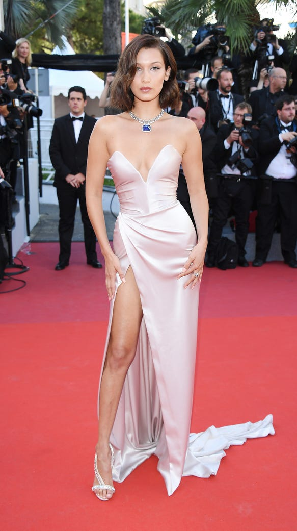 Bella Hadid chose an  Alexandre Gauthie gown for Cannes'