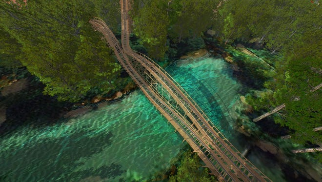 Mystic Timbers will feature 3,265 feet of track and pass over the river area at Kings Island.