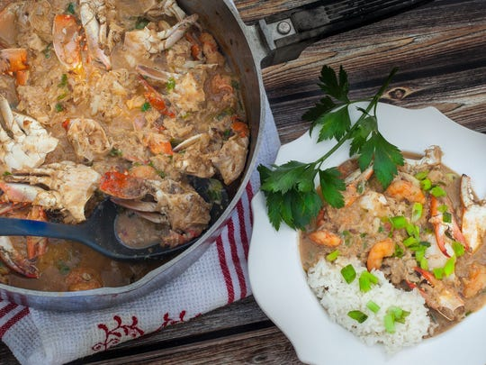 Here in Acadiana, blue crabs are always in season and this Crab Étouffée made from fresh Vermilion Bay crabs is a timeless recipe from the Louisiana coast.