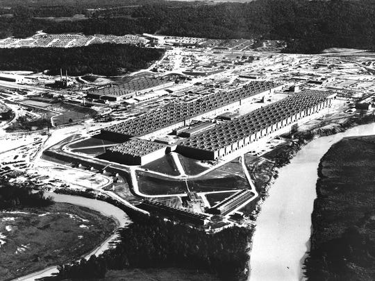 The K-25 Gaseous Diffusion Plant in Oak Ridge.