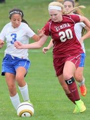 Elmira senior Sierra Barr (20) had 30 goals and 16