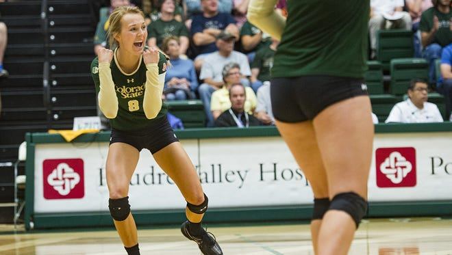 Volleyball player Amanda Young was one of three CSU student-athletes to have a GPA of 4.0 in the fall.