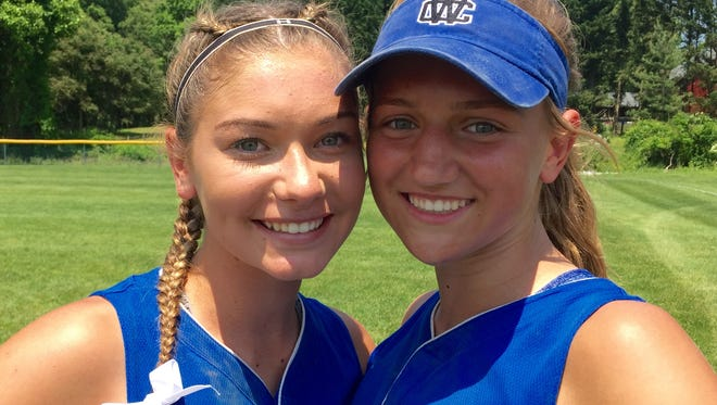 Two freshmen - pitcher Payton Czerwinski (left) and shortstop Taylor Gillis - played key roles in Charter of Wilmington's 6-4 victory over Padua in the DIAA Softball Tournament on Saturday.