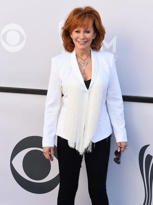 Reba McEntire during the 52nd Academy of Country Music Awards red carpet at T-Mobile Arena on Sunday, April 2, 2017, in Las Vegas, Nev.