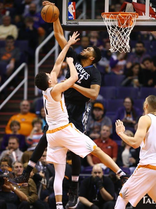 Timberwolves vs Suns 2017