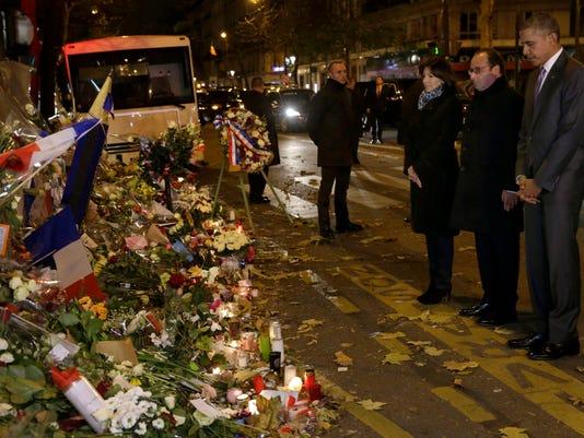 EPA FRANCE USA OBAMA PARIS ATTACKS WAR DIPLOMACY ENVIRONMENTAL POLITICS ACTS OF TERROR FRA