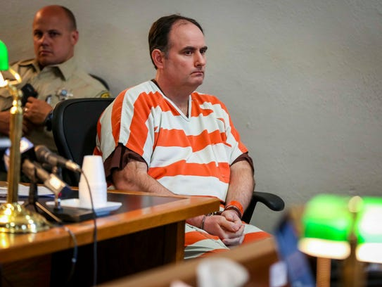 Joseph Finn II sits in a Polk County Courthouse courtroom