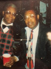 Personal photo of Stanford Barnes, right, and the legendary B.B. King.
